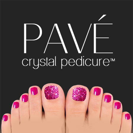 Pavé-Crystal-Pedicure-Fuschia