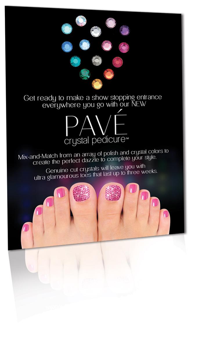 in salon marketing flyer pave nails pave insalon flyer