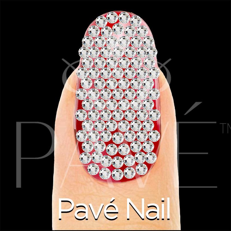 Pav Nail Crystal Stamping Template Pave Nails