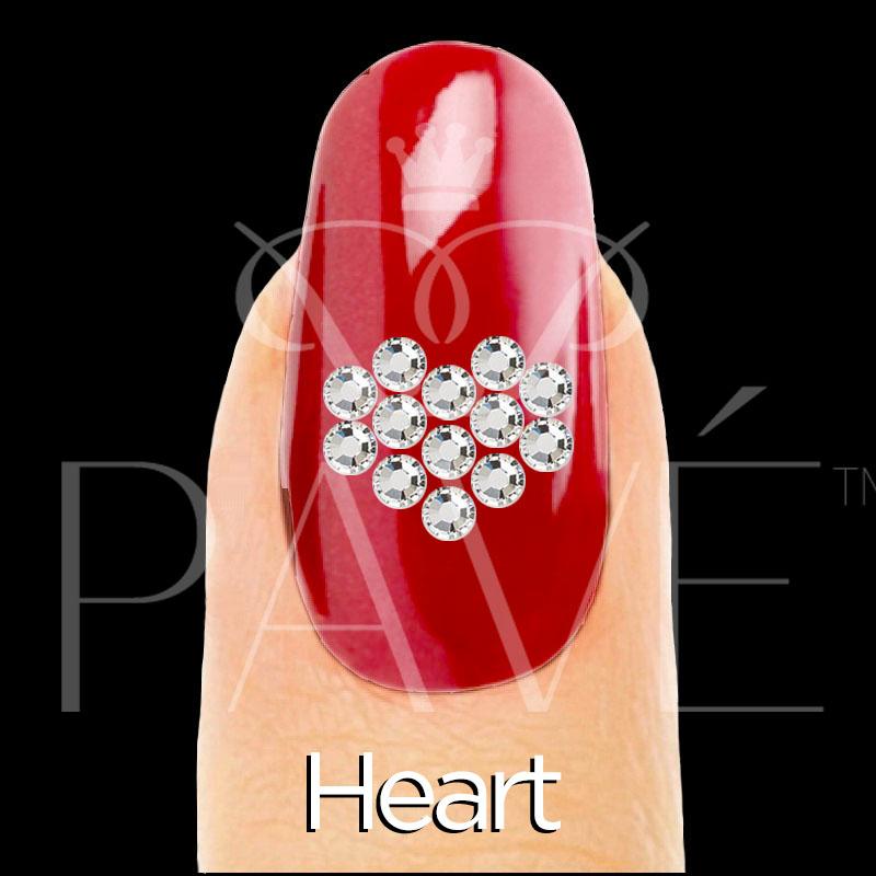 Nail Heart Home Crystal Stamping Template Mini Kits